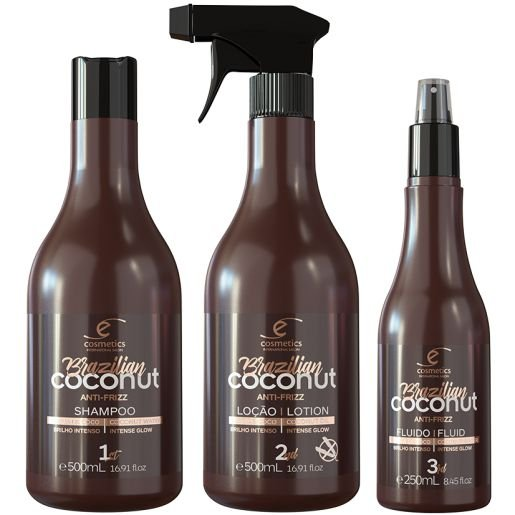 Brazilian Coconut Ecosmetics kit 3 x 500ml