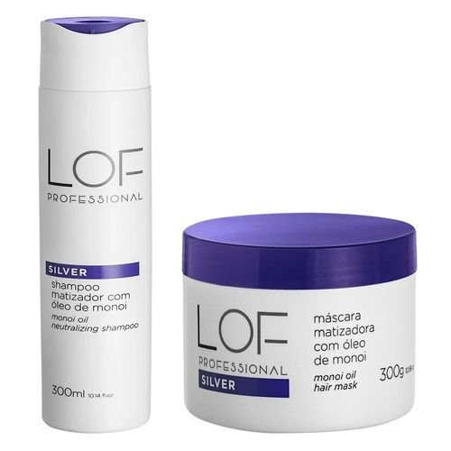 Lof Professional Matizador Kit Shampoo + Máscara 300g Efeito Perolado