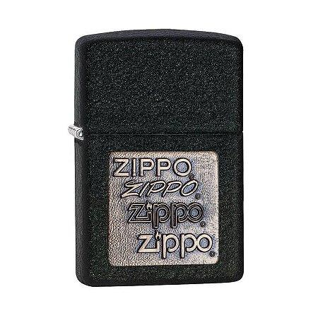 Isqueiro Zippo 362 Classic Craquelado com Emblema Dourado
