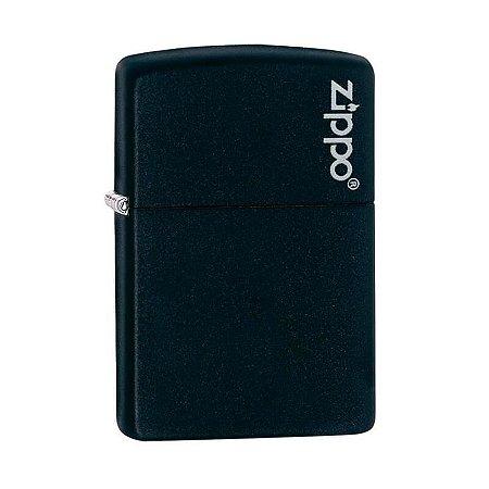 Isqueiro Zippo 218ZL Classic Preto com Logo