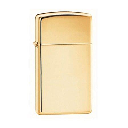 Isqueiro Zippo 1654B Slim Bronze Sólido Polido