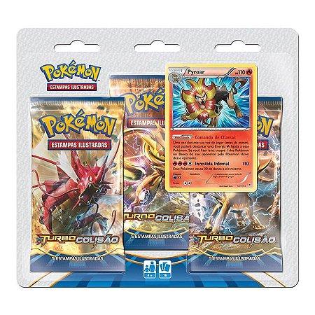 Pokémon TCG Triple Pack Pyroar - XY9 Turbo Colisão