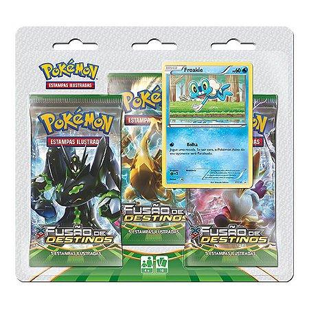 Pokémon TCG: Triple Pack Froakie - XY10 Fusão de Destinos