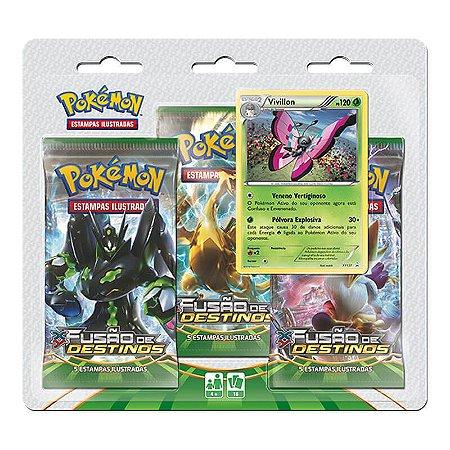 Pokémon TCG Triple Pack Vivillon - XY 10 Fusão de Destinos