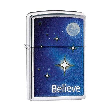 Isqueiro Zippo 29071 Classic Believe Star Polido