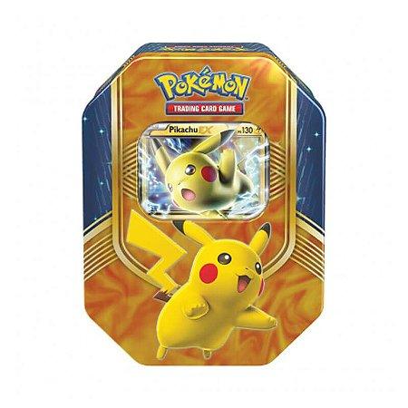 Pokémon TCG Lata Colecionável Batalha de Coração - Pikachu EX