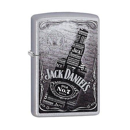 Isqueiro Zippo 29285 Classic Jack Daniel's Bottle Acetinado