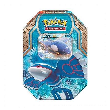 Pokémon TCG Lata Colecionável Lendas de Hoenn - Kyogre EX