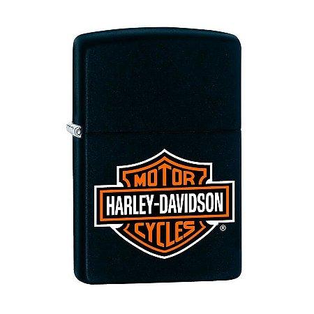 Isqueiro Zippo 218HD.H252 Harley-Davidson® Logo Colorido Preto
