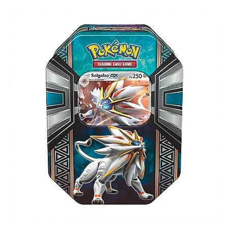 Pokémon TCG: Lata Colecionável Lendas de Alola - Solgaleo GX