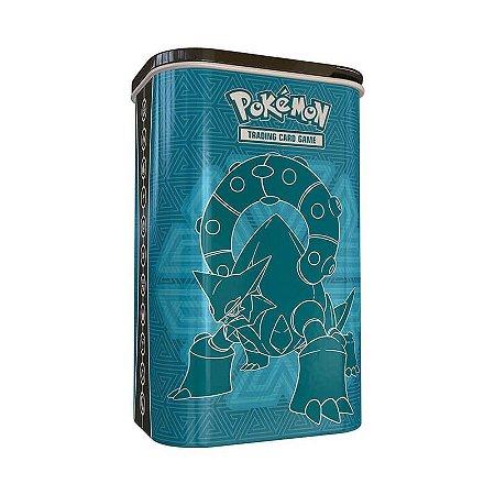 Pokémon TCG: Lata Porta Baralho - Treinador de Elite Volcanion