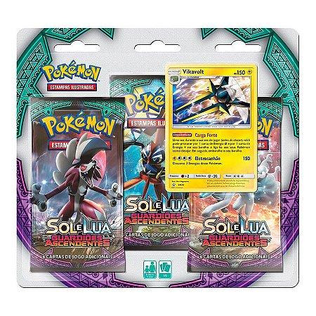 Pokémon TCG: Triple Pack SM2 Guardiões Ascendentes - Vikavolt