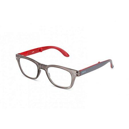 Óculos de Leitura Bold B+D Cinza/Vermelho