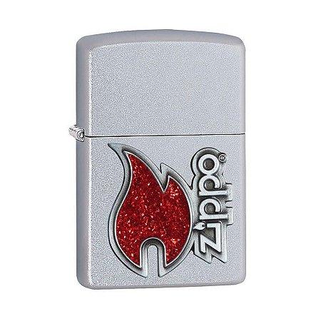 Isqueiro Zippo 28847 Classic Chama Vermelha Acetinado