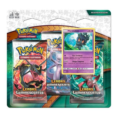 Pokémon TCG: Triple Pack SM3.5 Lendas Luminescentes - Marshadow