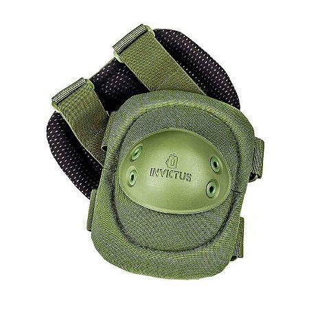 Cotoveleira Tática Protec Verde Invictus