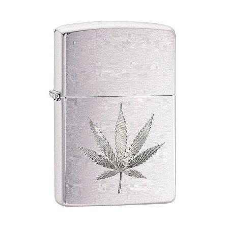 Isqueiro Zippo 29587 Classic Marijuana Leaf Escovado