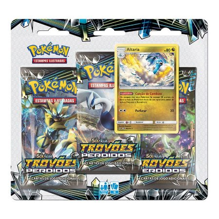 Pokémon TCG: Triple Pack SM8 Trovões Perdidos - Altaria
