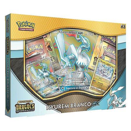 Pokémon TCG: Box Kyurem Branco-GX SM7.5 Dragões Soberanos
