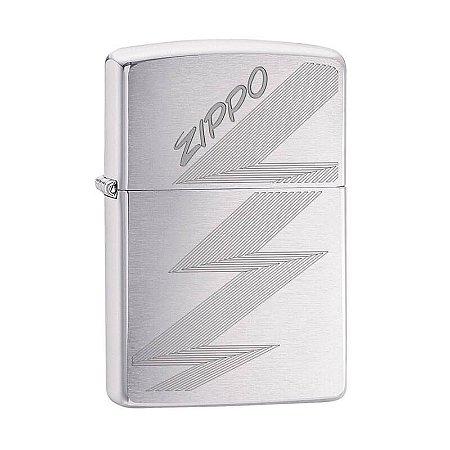 Isqueiro Zippo 29683 Classic Logo Zigue-Zague Escovado