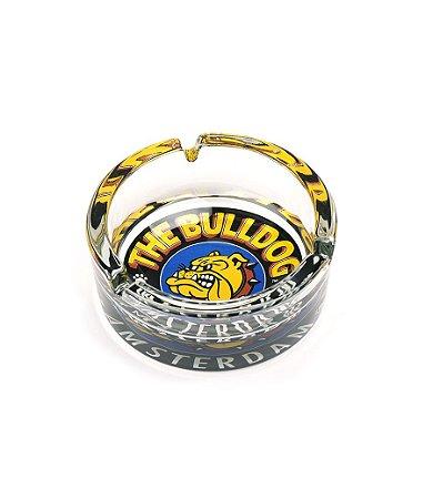 Cinzeiro de Vidro Transparente com Fundo Colorido The Bulldog - GS00406