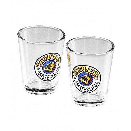 Copinho de Vidro Cristal Shot Glass The Bulldog Caixa com 2 un. - GS00300