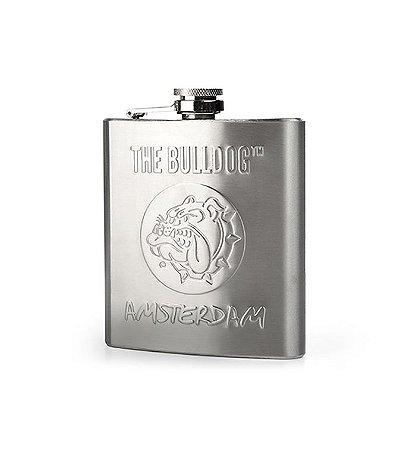 Cantil Em Aço Inox 200 Ml Porta Bebidas The Bulldog - GH00099