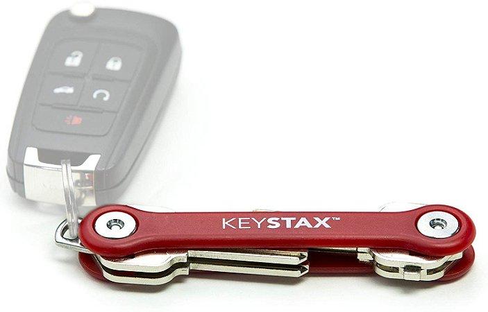 KeyStax Porta-chaves e organizador de chaves Keysmart Vermelho (até 8 chaves)