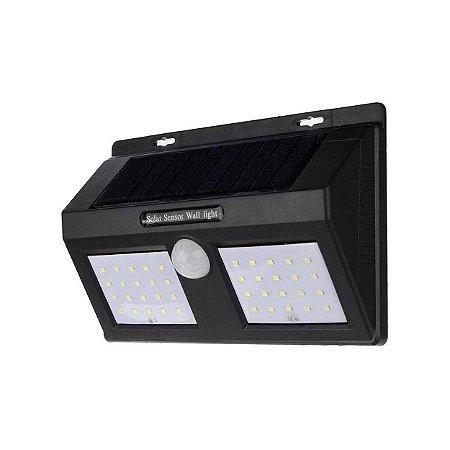 Luminária Led Dupla Solar 40 Leds 12w Sensor De Presença