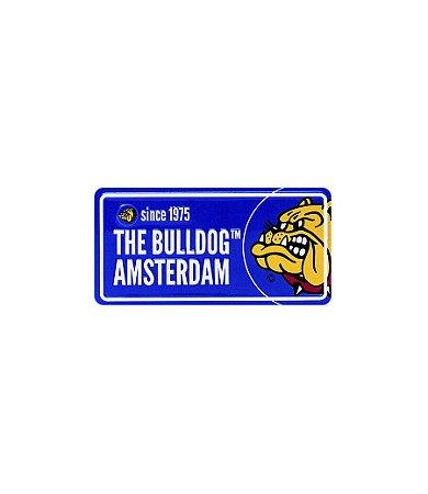 Placa em Metal Azul The Bulldog - GH00131