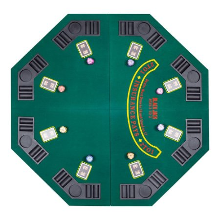 Tampo Mesa de Poker Octagonal Dobrável FT4-639 8 Jogadores