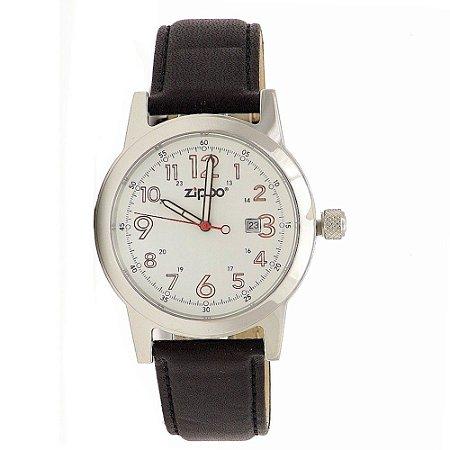 Relógio Casual Masculino Zippo 45002 Black/White C/ Datador
