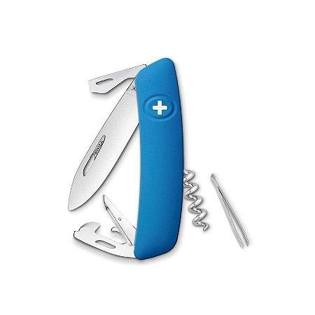 Canivete Suíço D03 Azul Swiza com Bag Premium