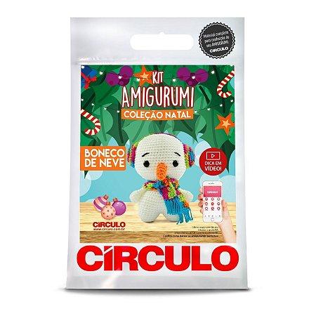 Kit Amigurumi Coleção Natal Circulo Boneco de Neve