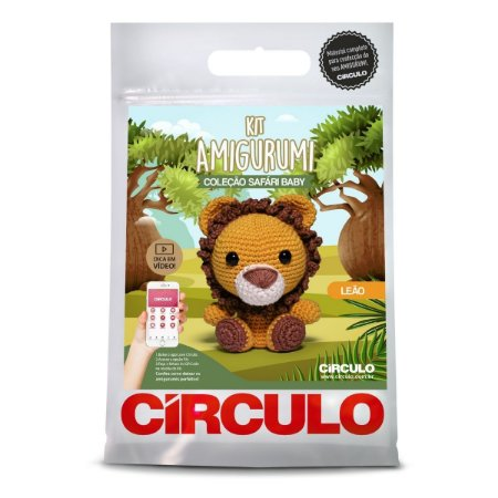 Kit Amigurumi Circulo Safari Baby Leão