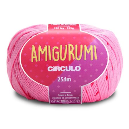 Linha Amigurumi Circulo 254m Cor Chiclete 3131