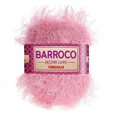 Barbante Barroco Decore Luxo Circulo 280g Cor Rosa candy 3526