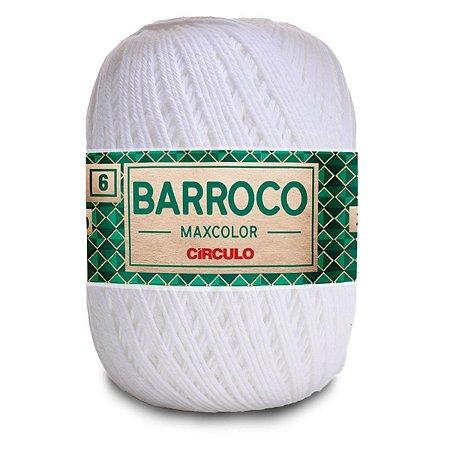 Barbante Barroco Maxcolor 400g Circulo N6 Cor Branco 8001