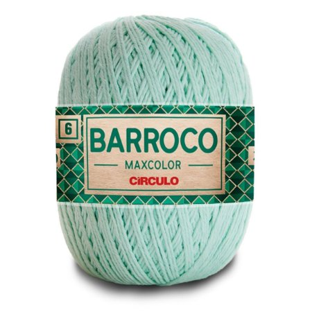 Barbante Barroco Maxcolor 400g Circulo N6 Cor Verde Candy 2204