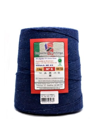 Barbante 1Kg Número 6 Azul Marinho