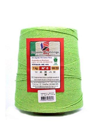 Barbante 1Kg Número 6 Verde Abacate