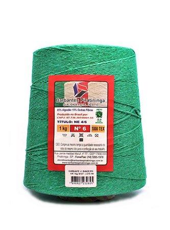 Barbante 1Kg Número 6 Verde Bandeira