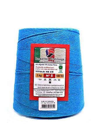 Barbante 1Kg Número 8 Azul Turquesa