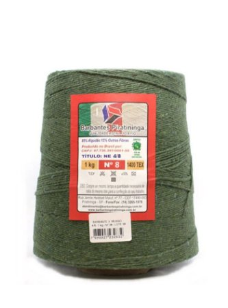 Barbante 1Kg Número 8 Verde Musgo