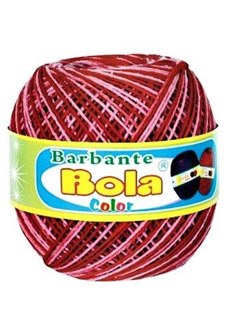 Barbante 350m Bola Color Vermelho/Rosa Médio
