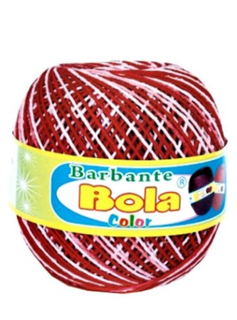 Barbante 350m Bola Color Vermelho/Branco