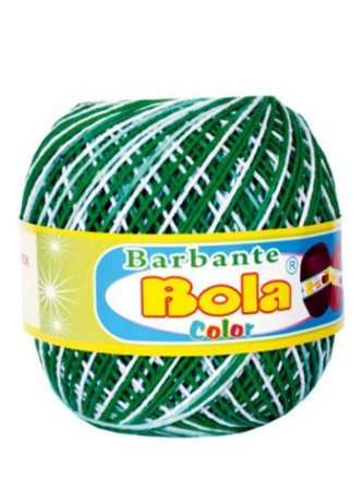 Barbante 350m Bola Color Bandeira/Branco