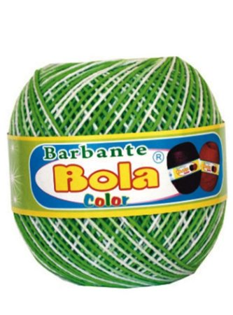 Barbante 350m Bola Color Abacate/Branco