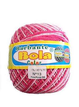 Barbante 350m Bola Color Pink/Rosa Bebê