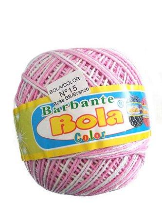 Barbante 350m Bola Color Rosa Bebê/Branco